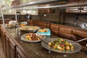 catered kitchen